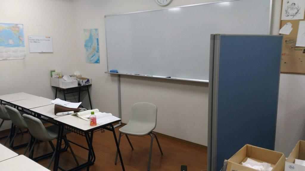 あすか塾甲東園校の2階奥の教室